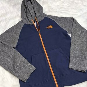Boys Large The North Face Glacier Full Zip Hoodie
